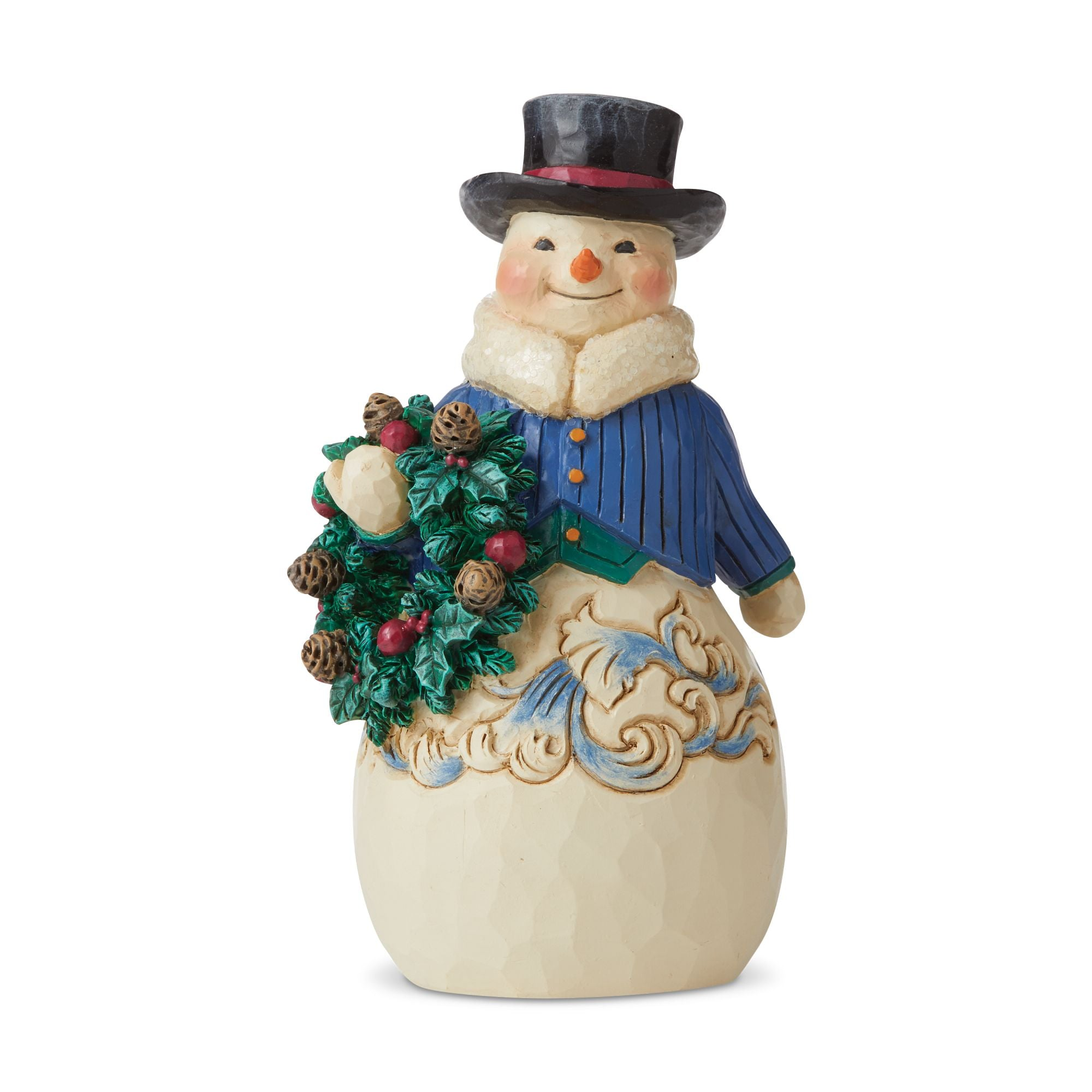 Victorian Snowman with Wreath