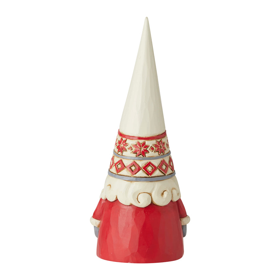 White Snowflake Hat Gnome
