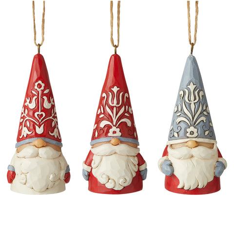 Nordic Mini Gnomes 3 Pc OrnSet