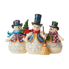 Three Snowmen Together