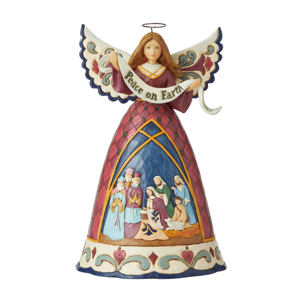 Nativity Angel w/Peace Banner