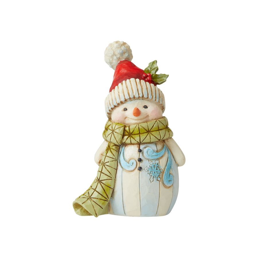 Snowman W/Pom Pom Mini Fig