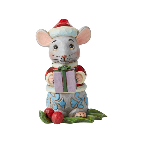 Christmas Mouse Mini Fig