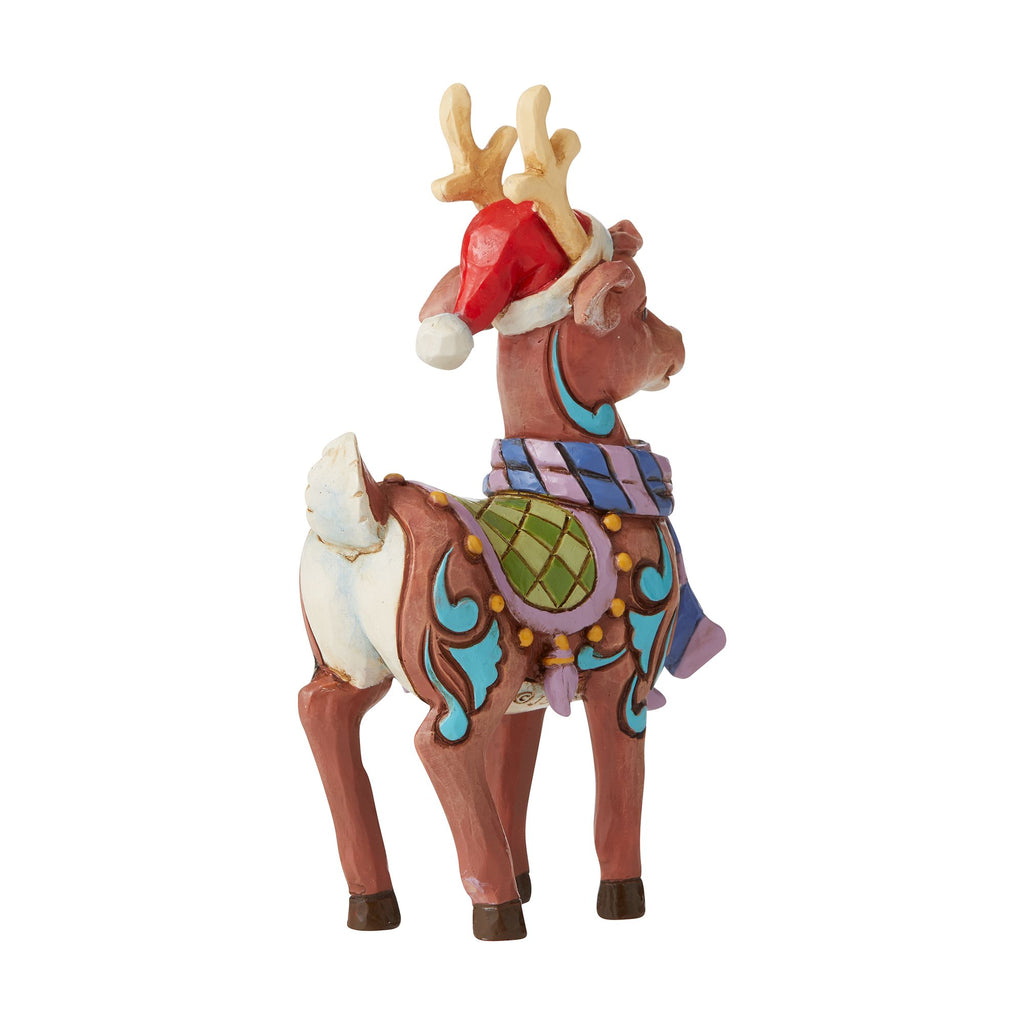 Reindeer W/ Hat Mini Fig