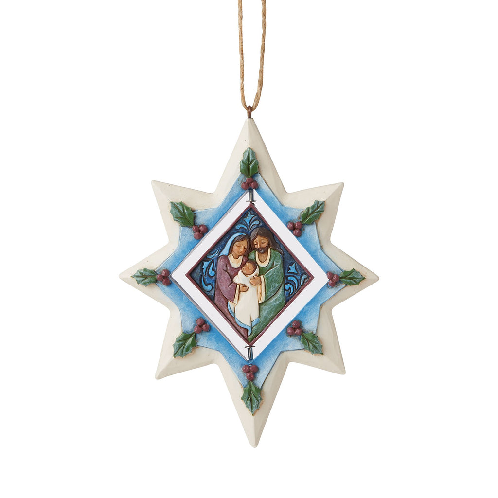 Star Ornament with Holy Family