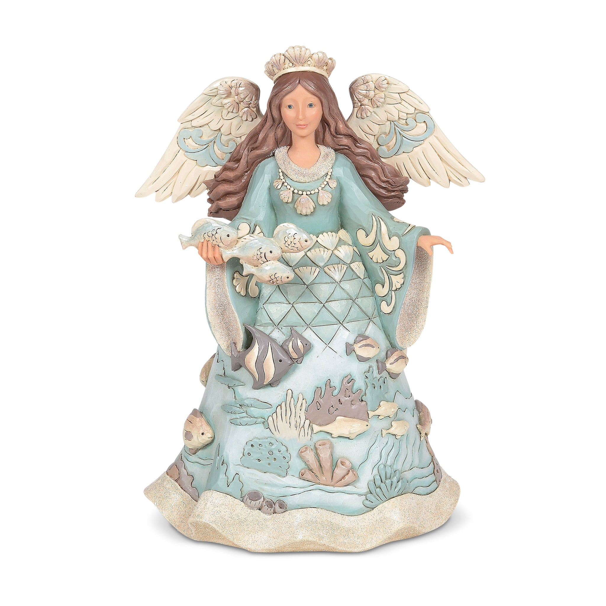 Coastal Angel With Fish