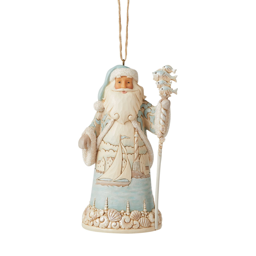 Coastal Santa Ornament
