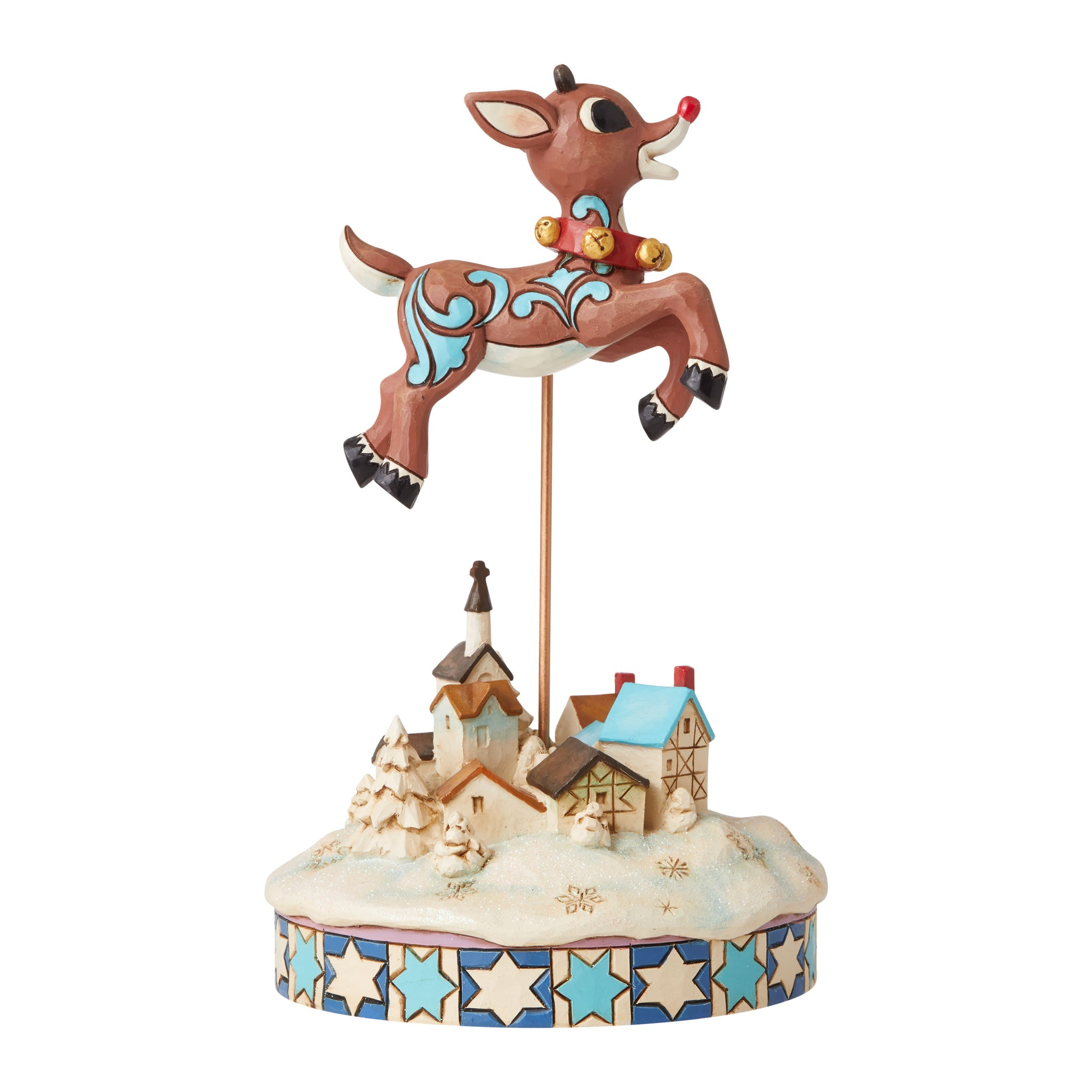 Leaping Rudolph With Bells