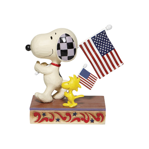 Snoopy/Woodstock with Flags