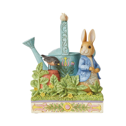 Peter Rabbit with Watering Can