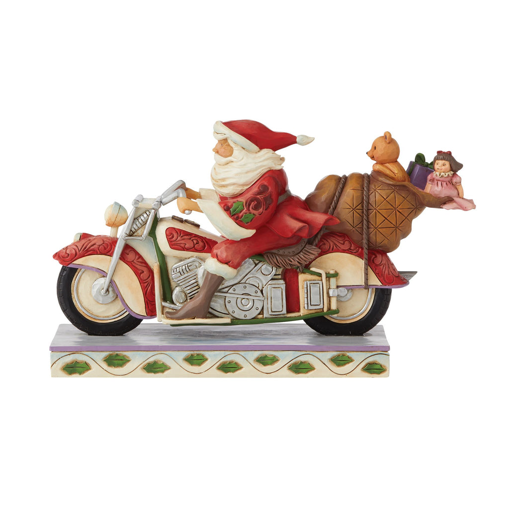 Santa Riding Motorcycle