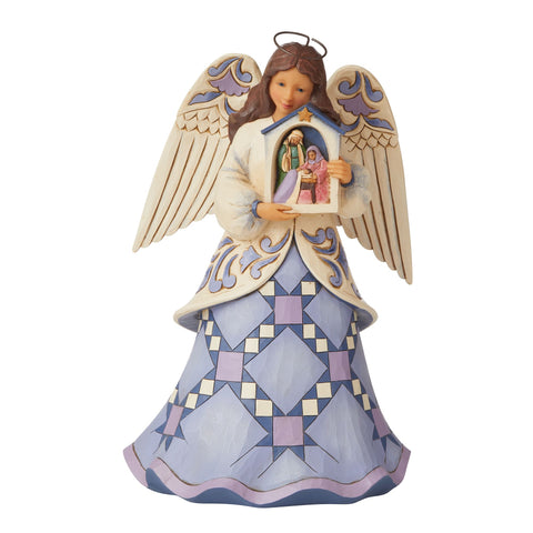 Angel Holding Nativity Stable