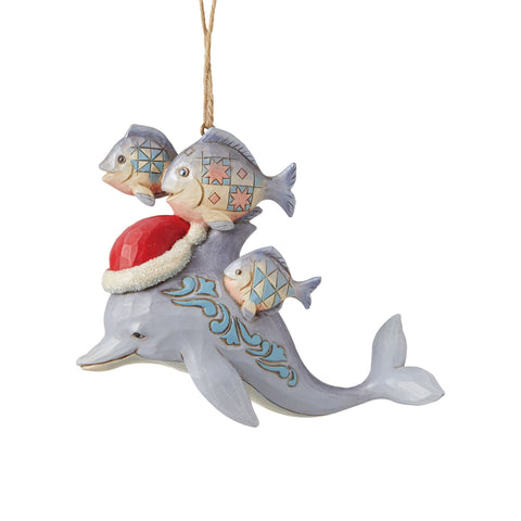 Christmas Dolphin Ornament