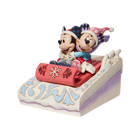Mickey and Minnie Sledding