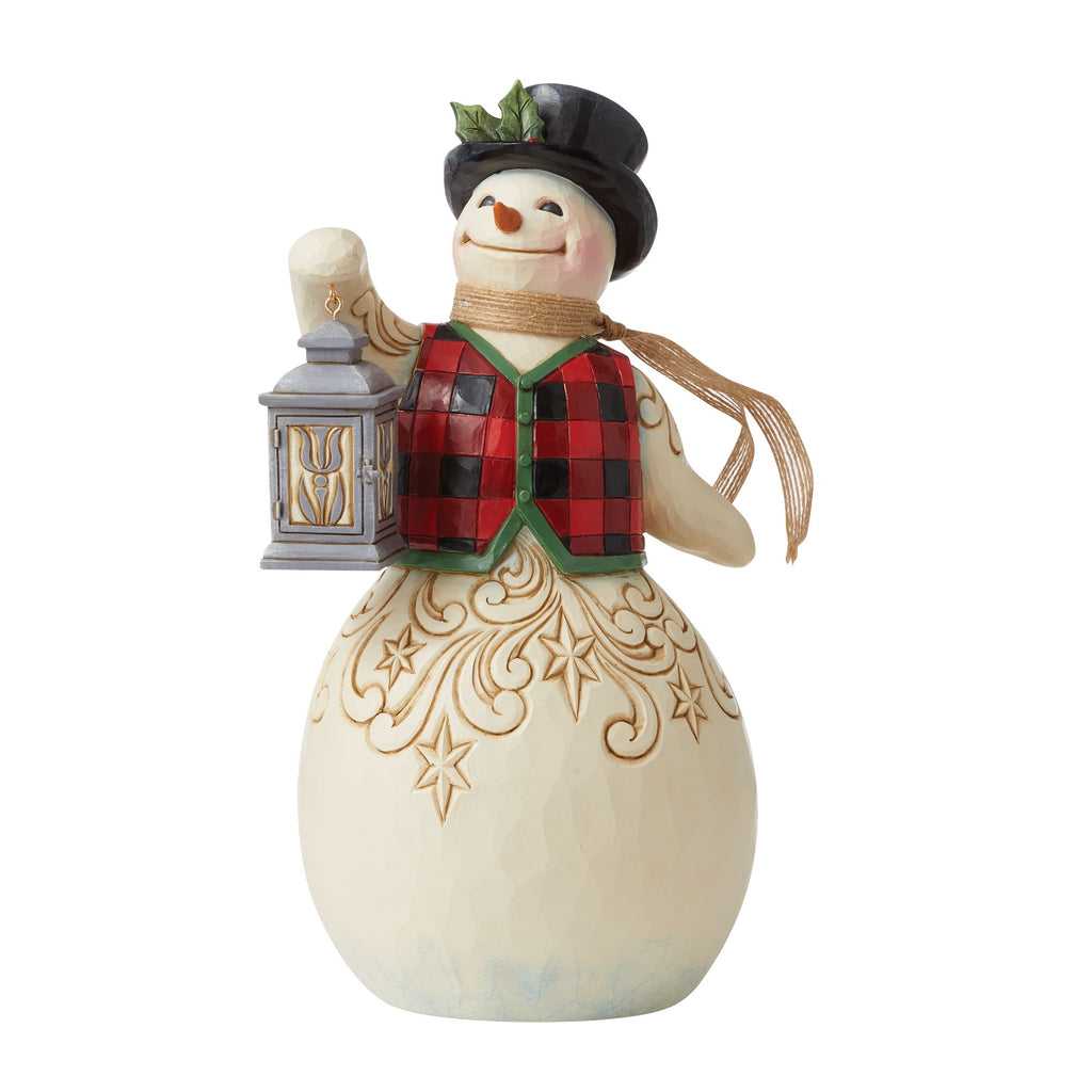 Snowman with Plaid Vest