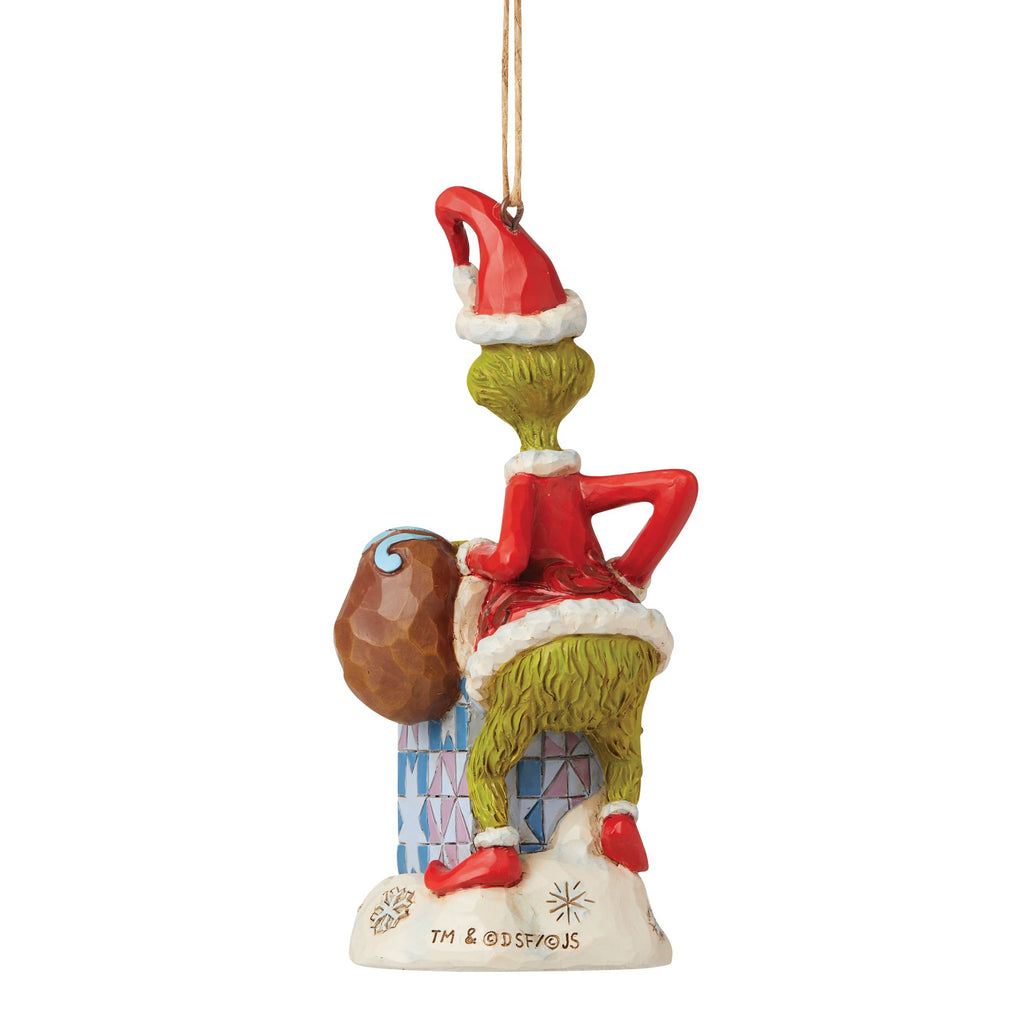 Grinch in Chimney Ornament