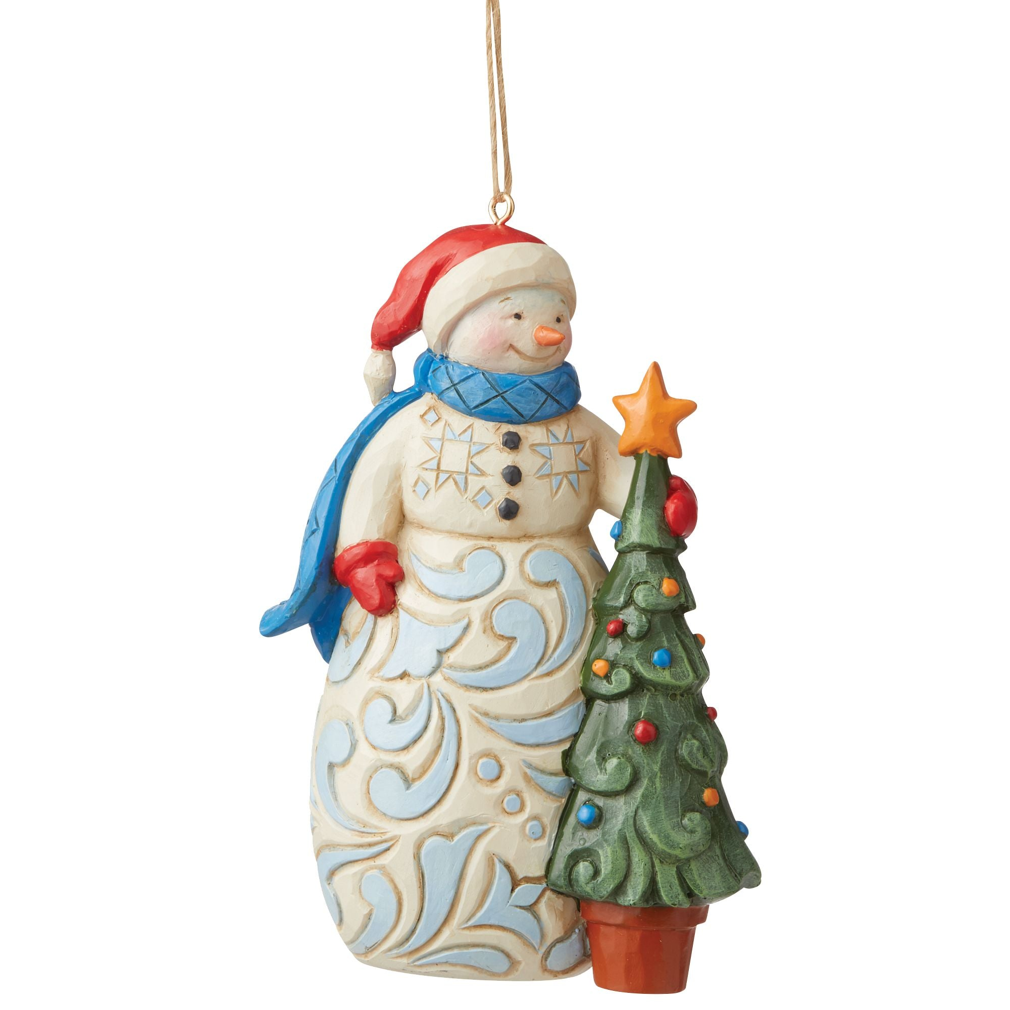Snowman with Tree Ornament