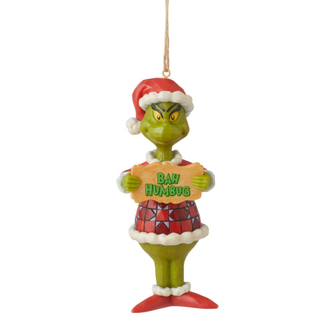 Grinch Bah Humbug PVC Ornament