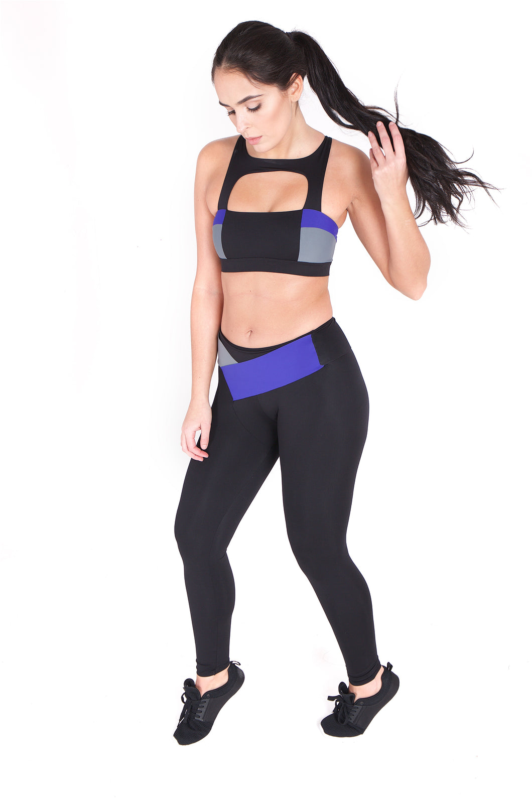 The Freya Wrap Legging - Purple