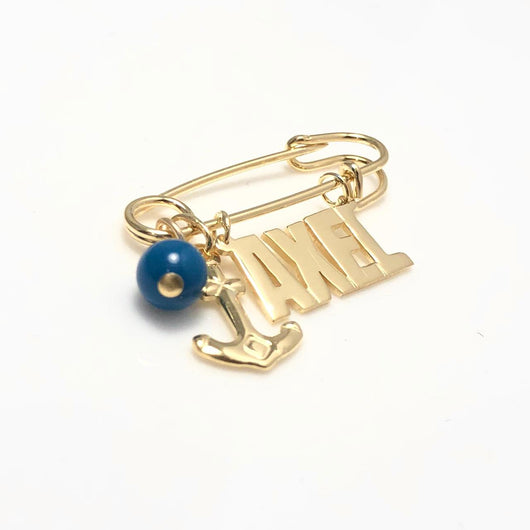 Pin Alfiler de Nombre con charms
