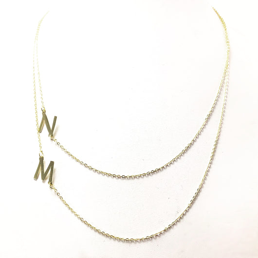 Layered Double Initial Necklace