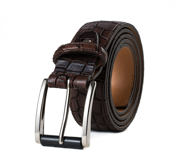 Piemonte Embossed Leather Belt