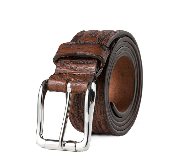 Liguria Embossed Leather Belt