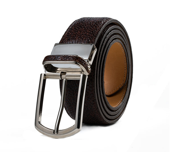 Veneto Embossed Leather Belt