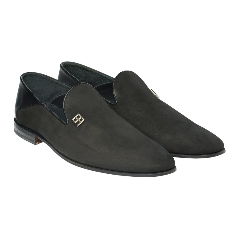 The Fold Down Loafer in Muted Onyx