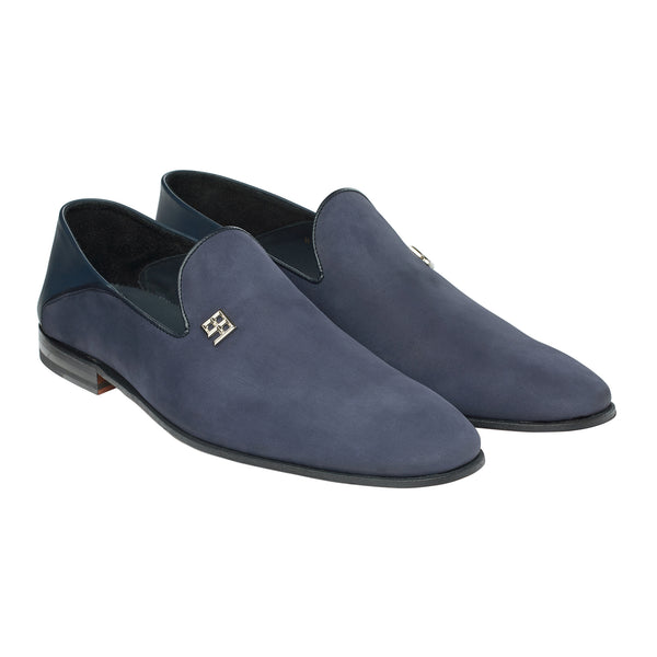 The Fold Down Loafer in Muted Azure