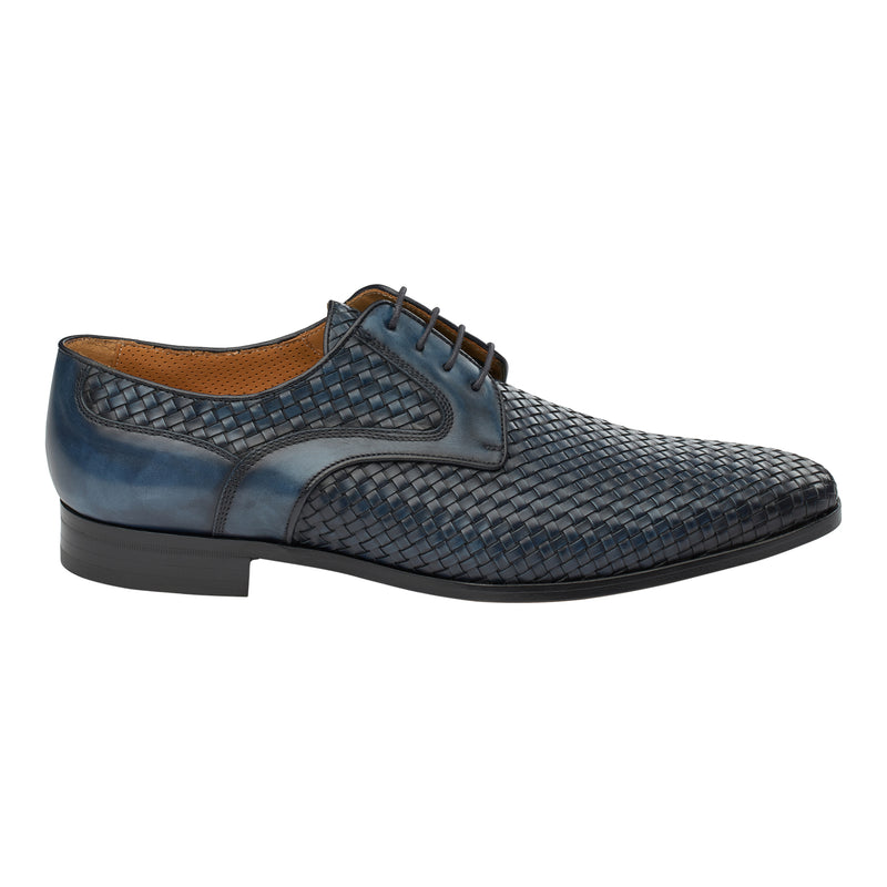 The Woven Oxford in Dark Azure