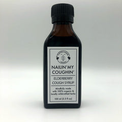 Elderberry Cough Syrup - Nailin' My Coughin' - Tippecanoe Herbs Herbalist Milwaukee