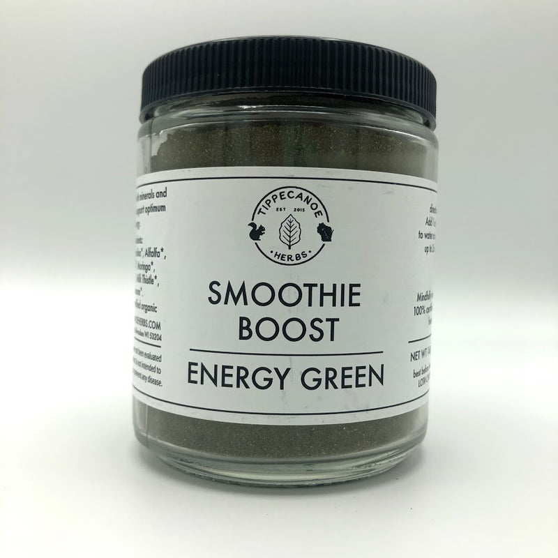 Green Smoothie Boost - Energy Green - Tippecanoe Herbs Herbalist Milwaukee