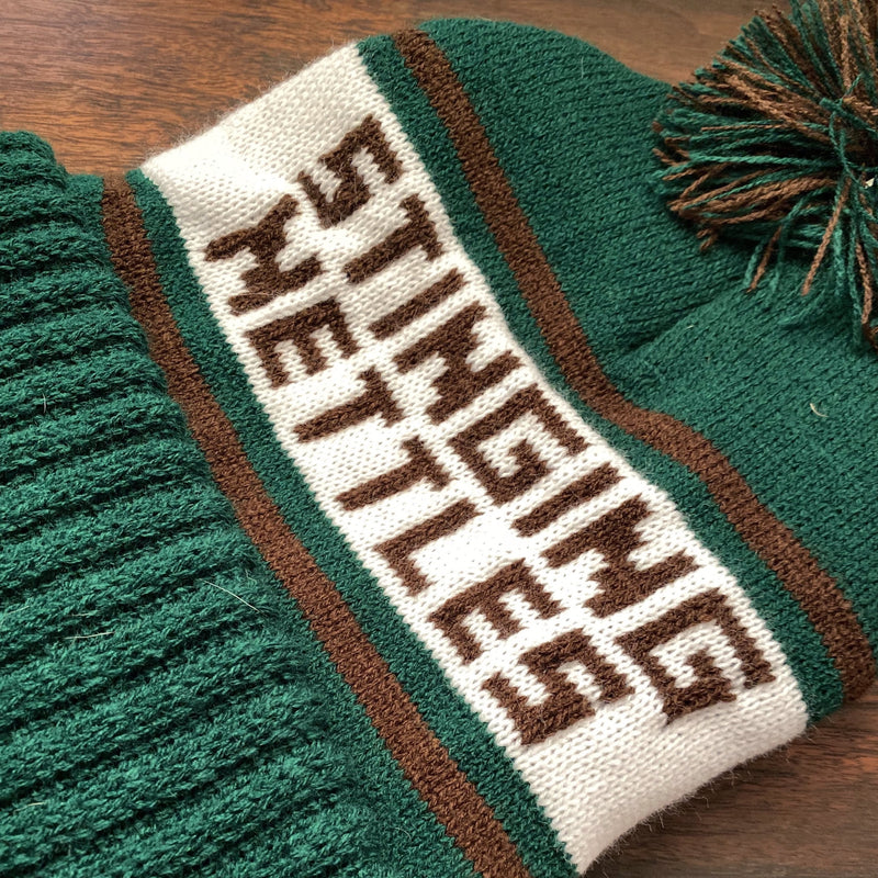 Stinging Nettles Embroidered Knit Hat - Tippecanoe Herbs Herbalist Milwaukee