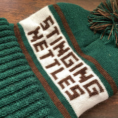 Stinging Nettles Embroidered Knit Hat - Tippecanoe Herbs