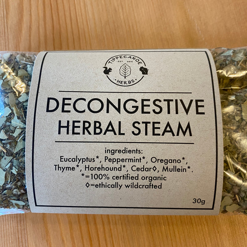 Decongestive Herbal Steam - Tippecanoe Herbs Herbalist Milwaukee