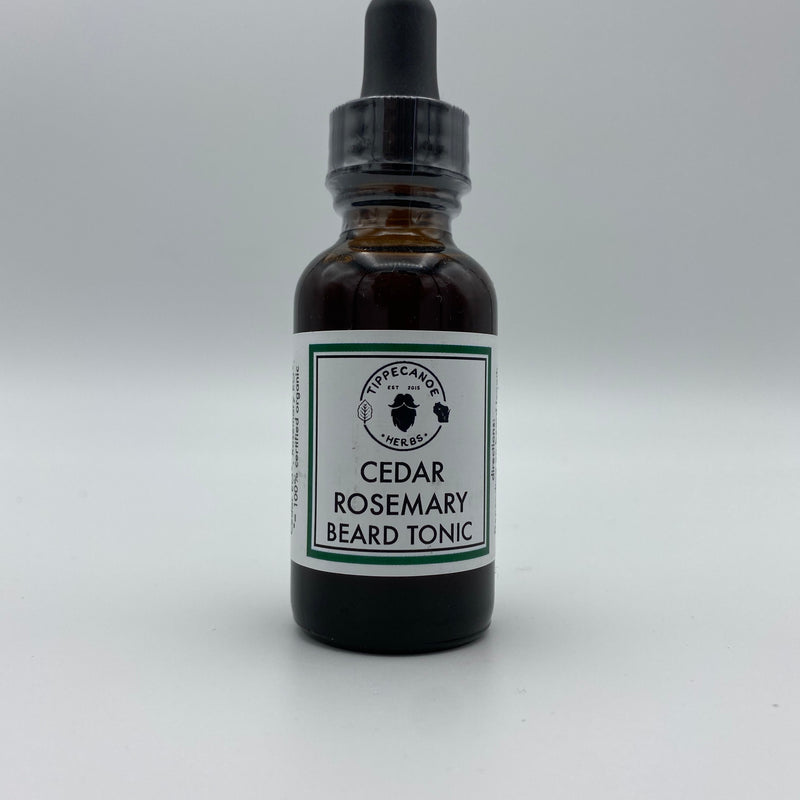 Beard Oil - Cedar Rosemary - Tippecanoe Herbs Herbalist Milwaukee