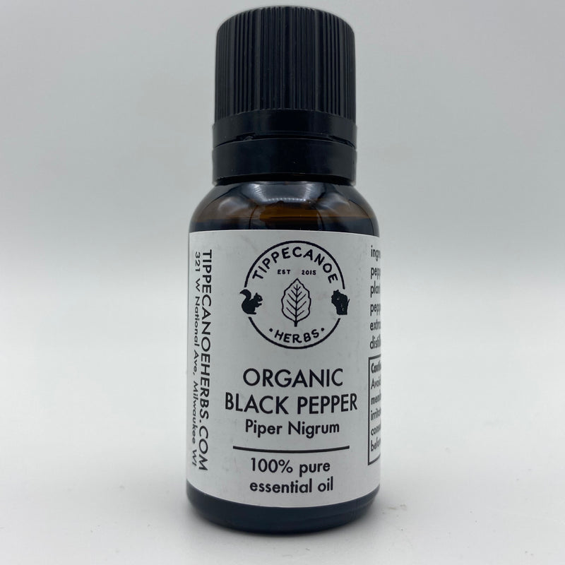 Black Pepper Essential Oil - Organic - Tippecanoe Herbs Herbalist Milwaukee