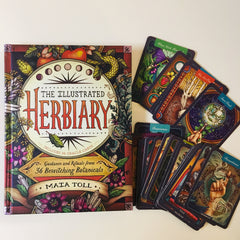 The Illustrated Herbiary - Guidance and Rituals from 36 Bewitching Botanicals - Book and Card