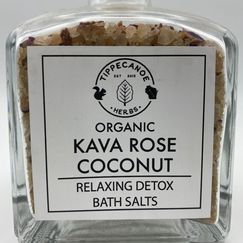 Kava Rose Bath Salts - Tippecanoe Herbs Herbalist Milwaukee