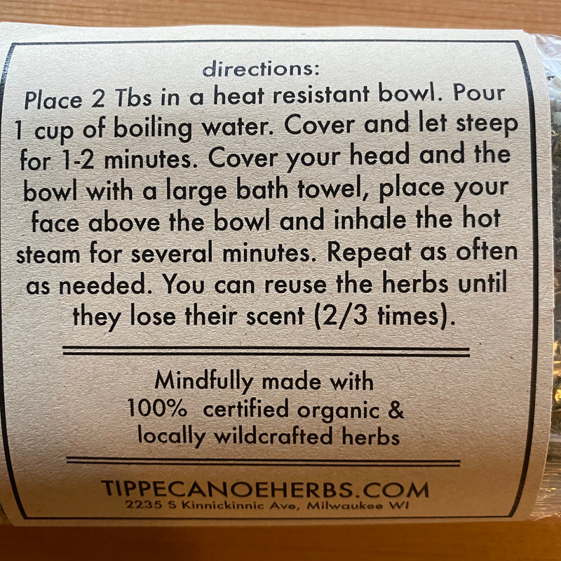 Decongestive Herbal Steam - Tippecanoe Herbs