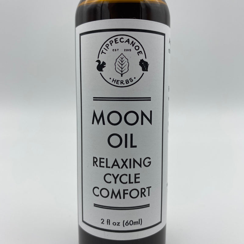 Moon Oil Massage Oil - Tippecanoe Herbs Herbalist Milwaukee