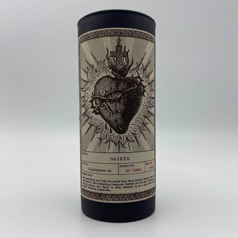 Soy ritual candle L'Apothicaire NOIR - Sacred - Tippecanoe Herbs Herbalist Milwaukee