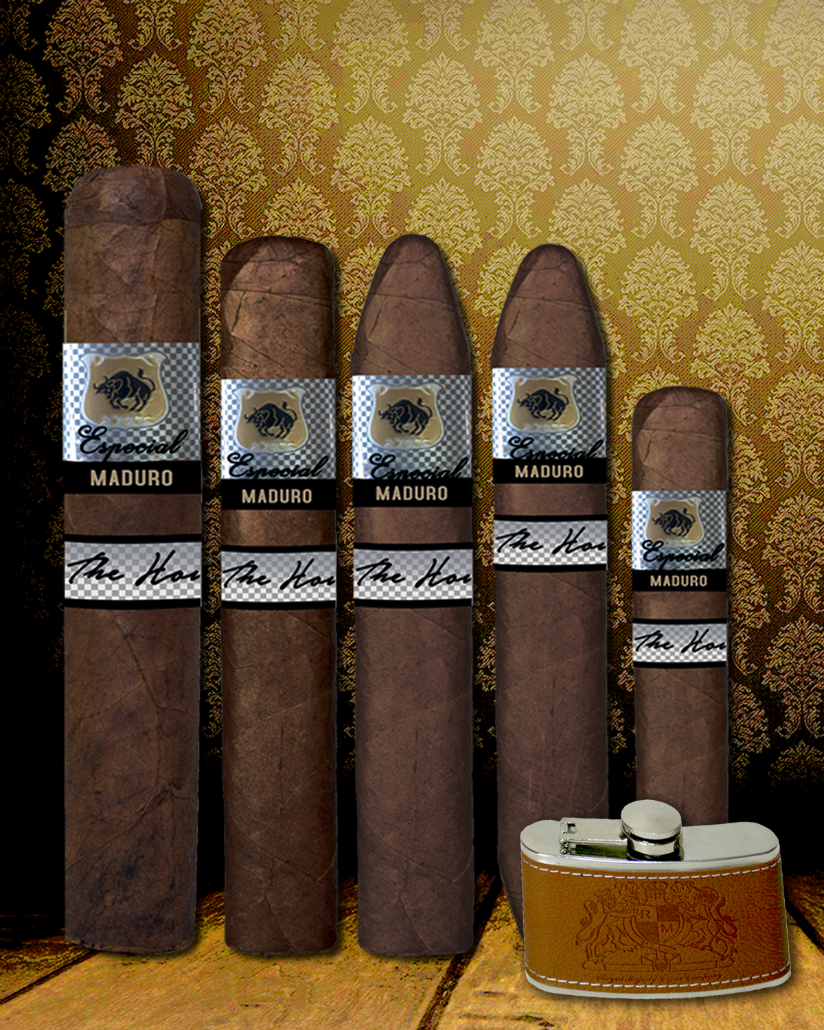 Holiday Especial Maduro 5 Piece Sampler + Free Gift Stainless Steel Flask