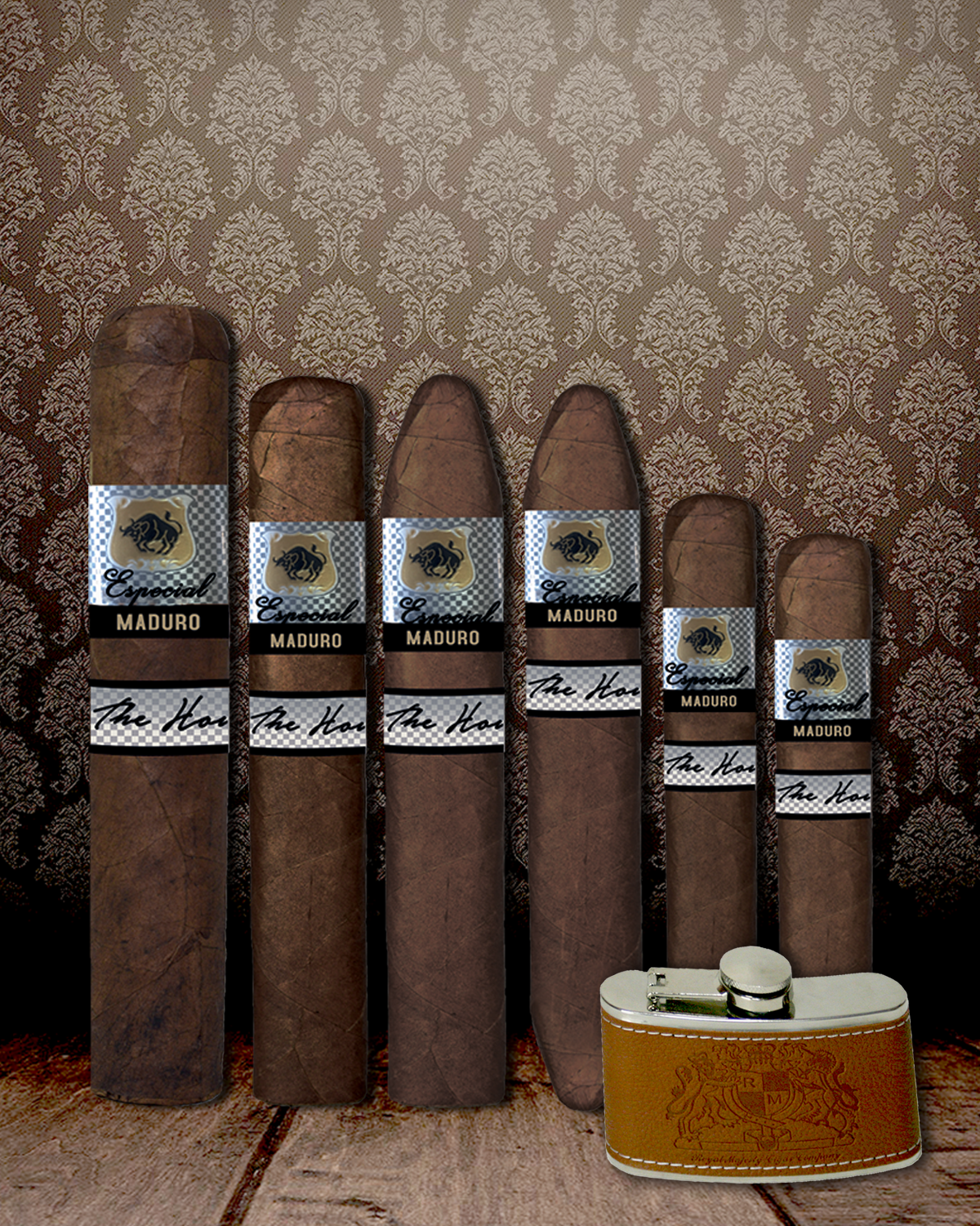 Holiday Especial Maduro 6 Piece Sampler + Free Gift Stainless Steel Flask