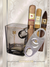 Cigar Lifestyle Accessories: Lucky whiskey Glass, stainless  Cutter + 3 Cigars