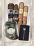 Cigar Lifestyle Accessories: Lucky stainless lucky eye Cutter, flint zippo Lighter + 4 Cigar