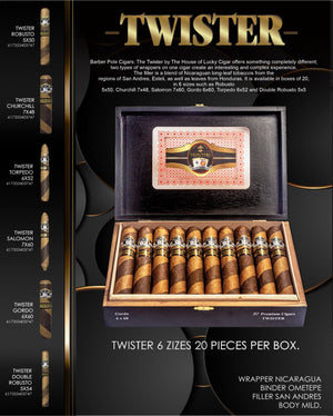 Barber Pole Cigars: Twister Salomon 7x60 Box of 20