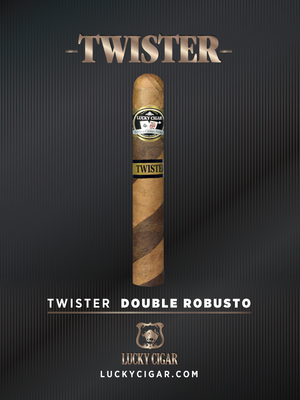 Barber Pole Cigars: Twister Double Robusto 5x54 Box of 20