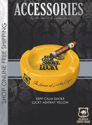 Lucky Cigar Accessories: Lucky Ashtray in Yellow